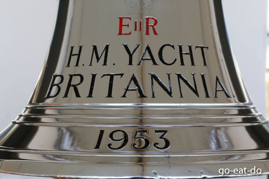 The bell of Her Majesty's Royal Yacht Britannia.