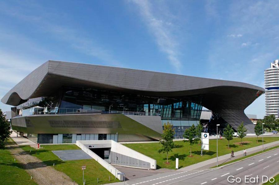 The exterior of BMW Welt.