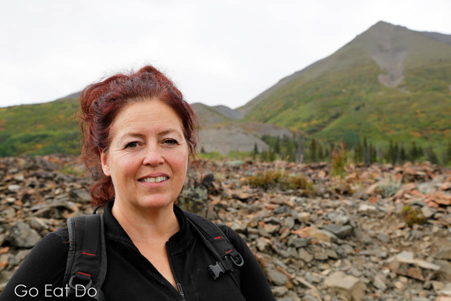 Teena Dickson, the owner of Who What Where Tours, in Kluane National Park