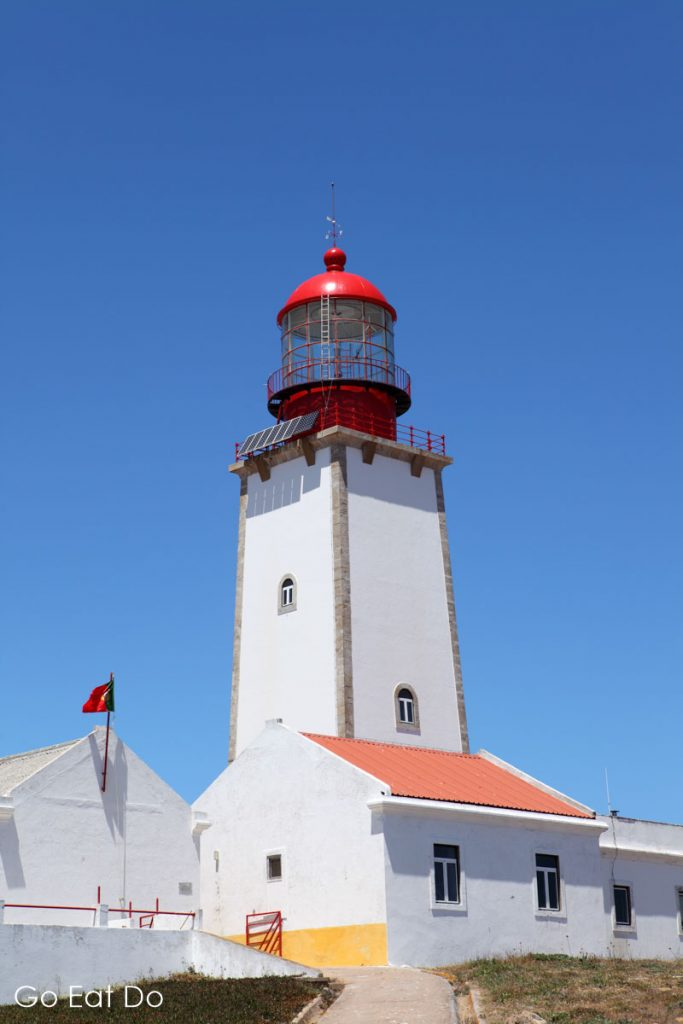 The lighthouse on Berlengas Grande, the largest of the archipelago 10 kilometres into the Atlantic Ocean from Peniche
