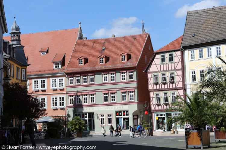 Half-timbered buildings in Bad Langensalza in Germany
