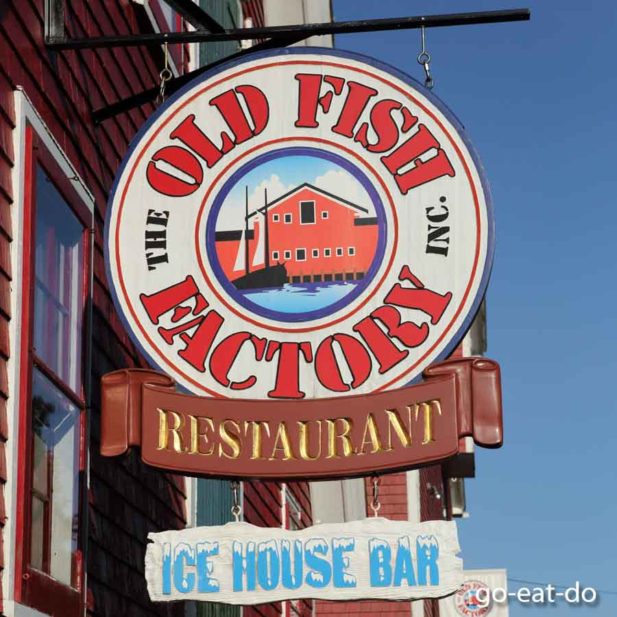 The Old Fish Factory restaurant and Ice House bar in Lunenburg.