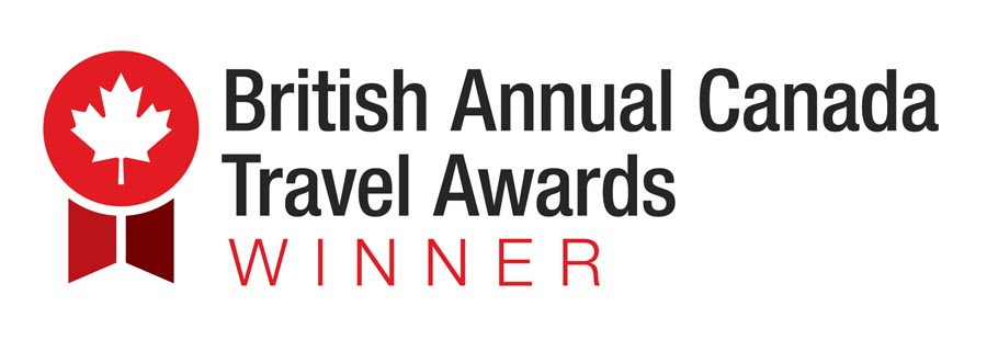 British Annual Canada Travel Awards winner logo presented to Newcastle-based travel writer Stuart Forster for Best Online Content.