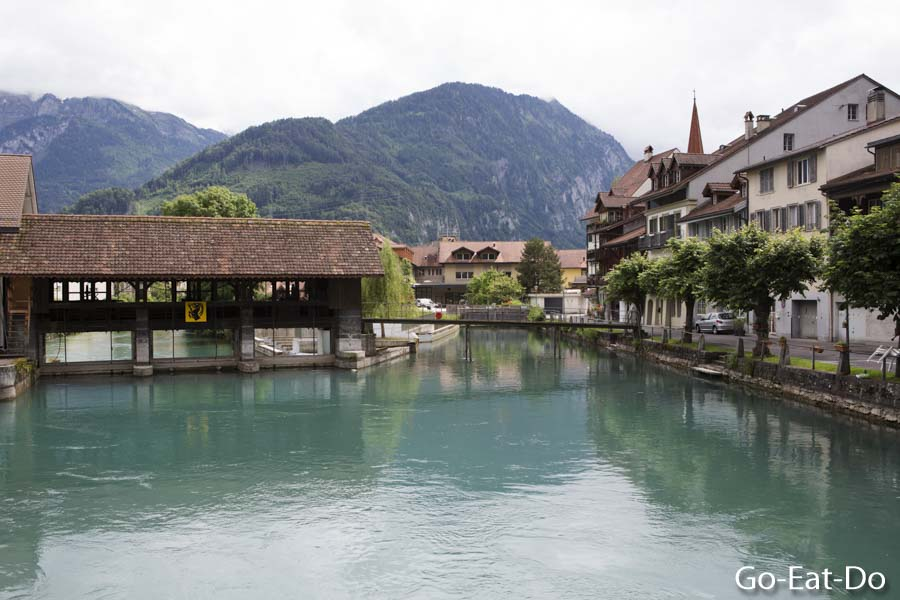 Mineral rich meltwater flowing between Interlaken and Unterseen.