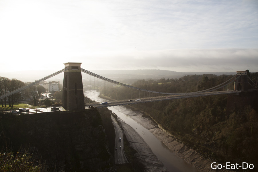 Clifton Suspension Bridge over the Avon Gorge in Bristol, England