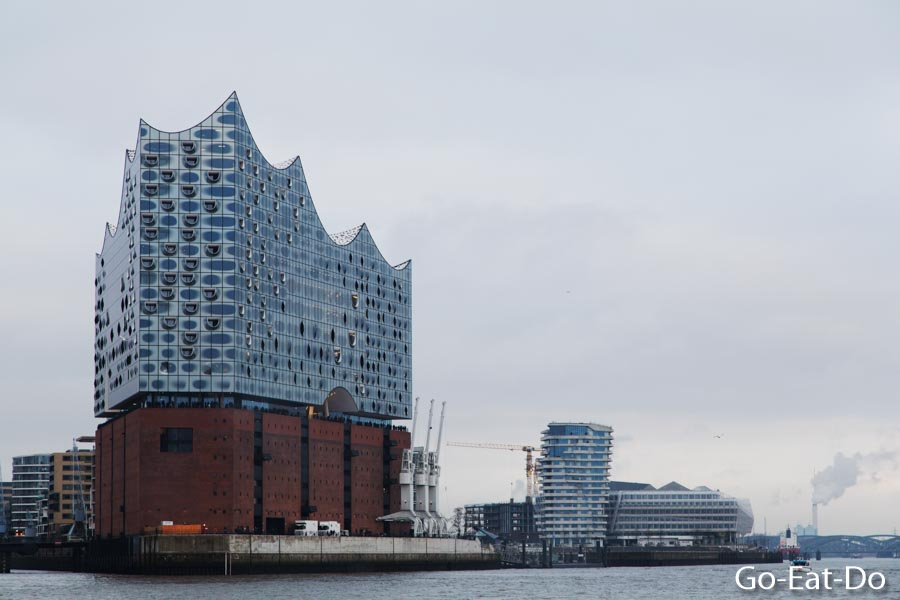 Elbphilharmonie concert hall and waterfront landmark in the HafenCity district of Hamburg, Germany