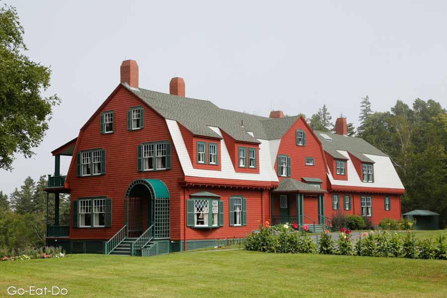 Roosevelt family summer home at Roosevelt Campobello International Park on Campobello Island in New Brunswick, Canada