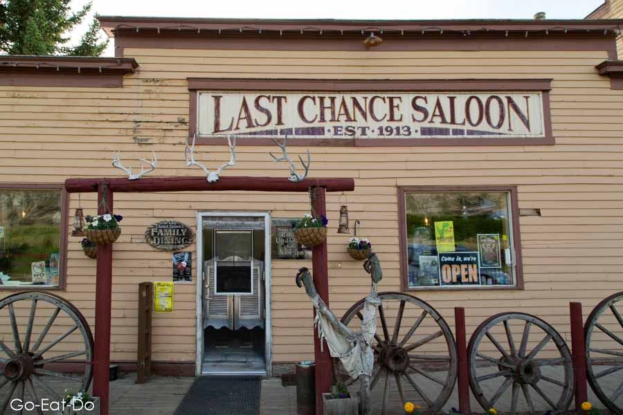 Entrance to the Last Chance Saloon in Wayne, Alberta, Canada. The saloon opened in 1913, when Wayne was a coal mining town.
