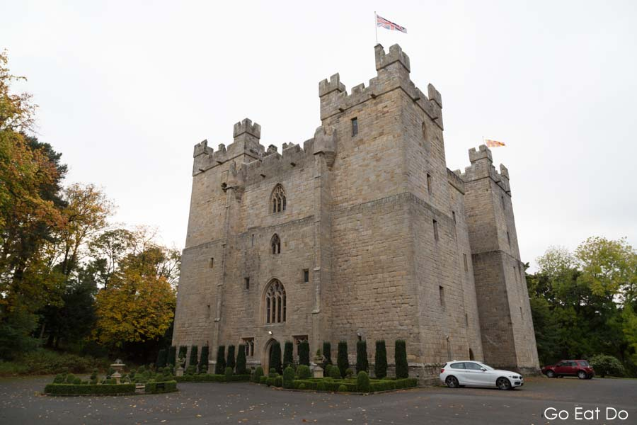 Langley Castle is a medieval fortress that's been converted into a luxury hotel with a fine-dining restaurant in Northumberland, England