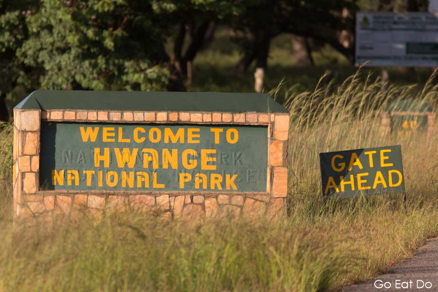 Welcome, Sign, Hwange National Park