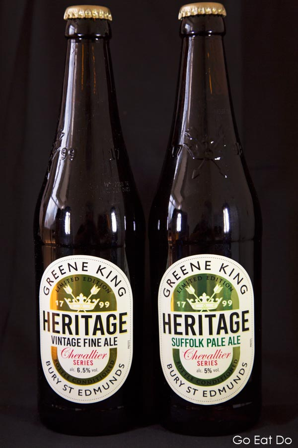 Bottles, Beer, Greene King, Heritage Series, Vintage Fine Ale, Suffolk Pale Ale
