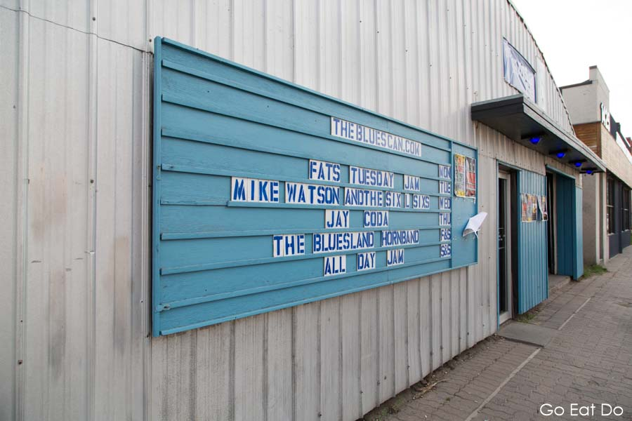 The Blues Can, a live music entertainment venue in the Inglewood district of Calgary, Alberta, Canada