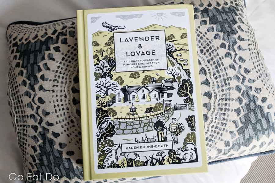 Front cover of the book 'Lavender and Lovage: A Culinary Notebook of Memories and Recipes from Home and Abroad' written by Karen Burns-Booth