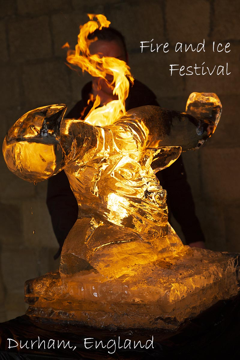 Pin this on Pinterest! Fire engulfs an ice sculpture of a Minotaur, carved ahead of the Fire and Ice festival held in Durham, England, on 22 and 23 February 2019.