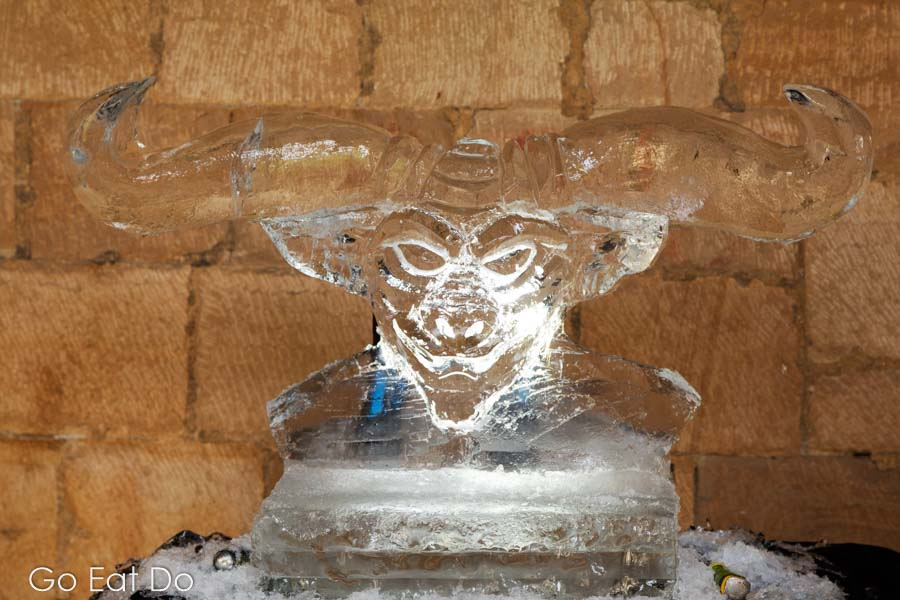 Keeping a cool head is probably key to being a good ice sculptor.