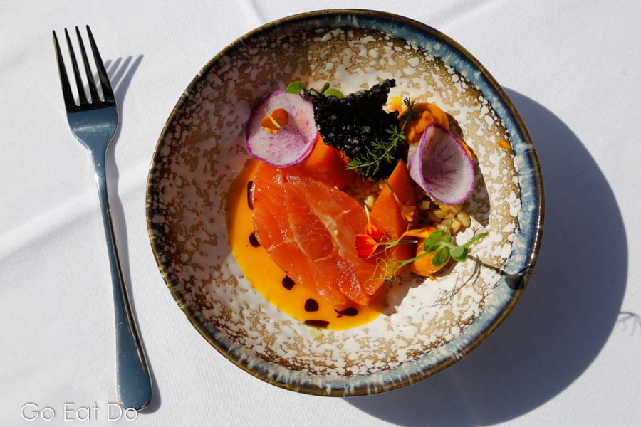 One of the beautifully presented dishes that guests could try during the Top Chefs on Stage event in Zell am See-Kaprun