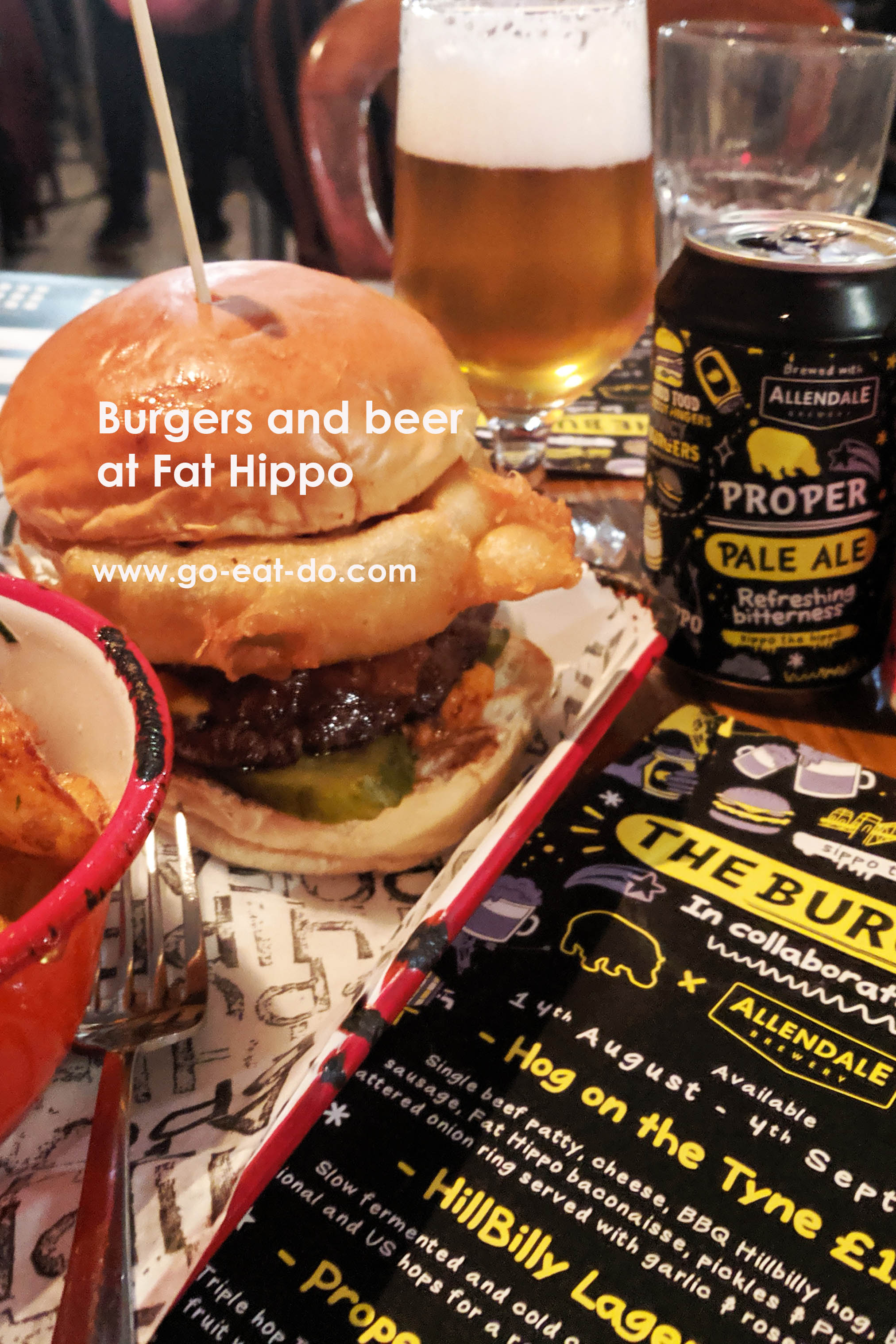 Use Pinterest? Pin this and return to read about an evening of burgers and beer at the Fat Hippo Underground in Newcastle.