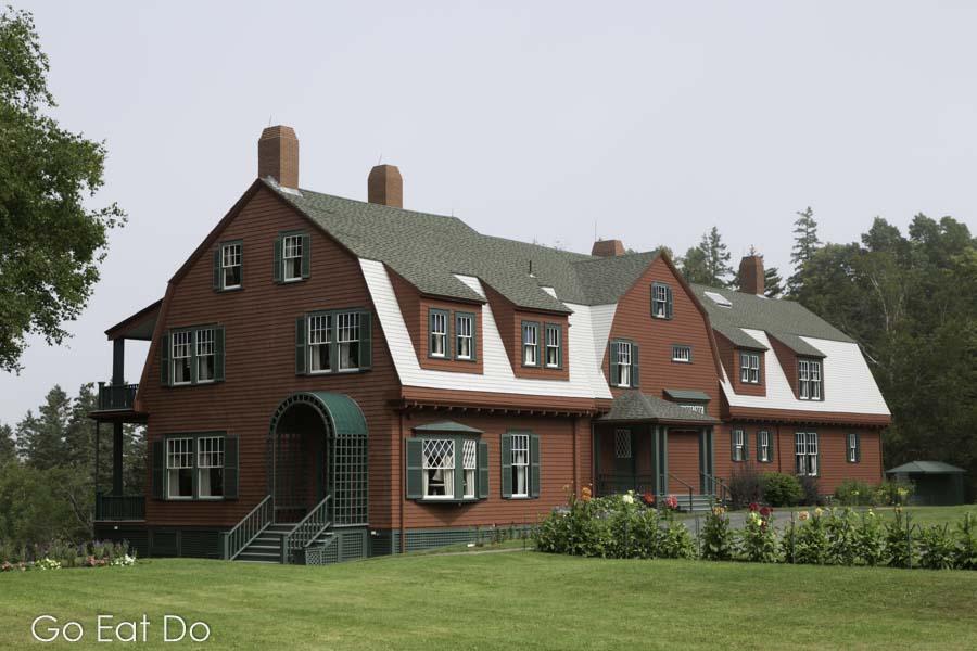 Roosevelt Cottage, the summer home of FDR, at Roosevelt Campobello International Park Campobello Island in New Brunswick