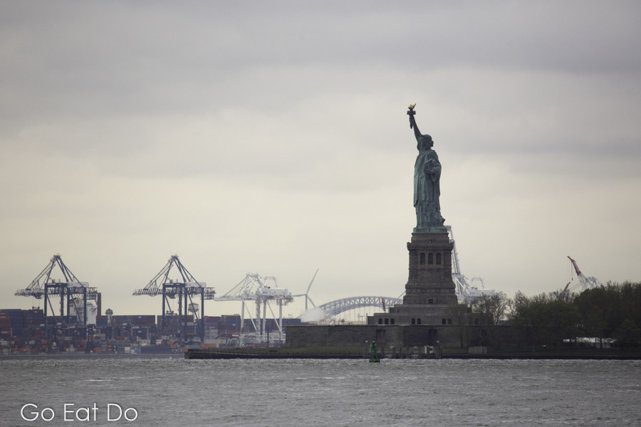 The Statue of Liberty on Liberty Island in the harbour of New York City which was once known as Nieuw Amsterdam