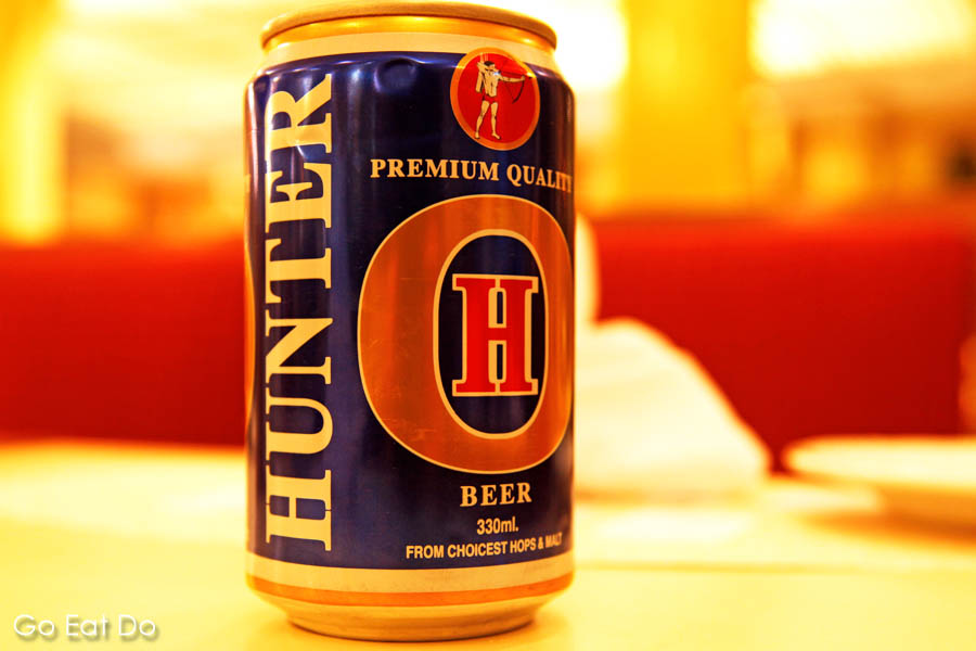 A can of Hunter beer, in Bangladesh