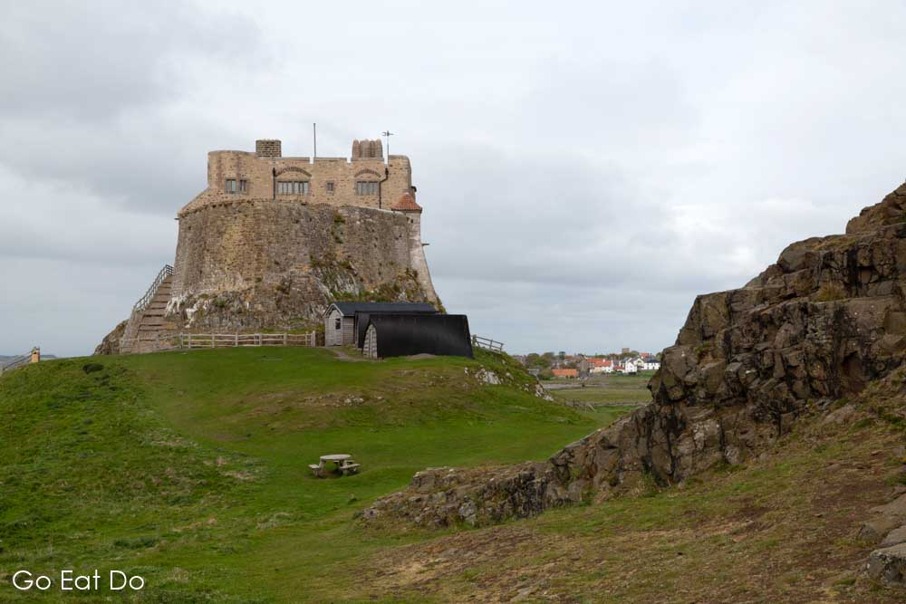 Lindisfarne Castle, built on Beblowe Crag, on Lindisfarne (Holy Island). A day trip counts among the things to do near Alnwick