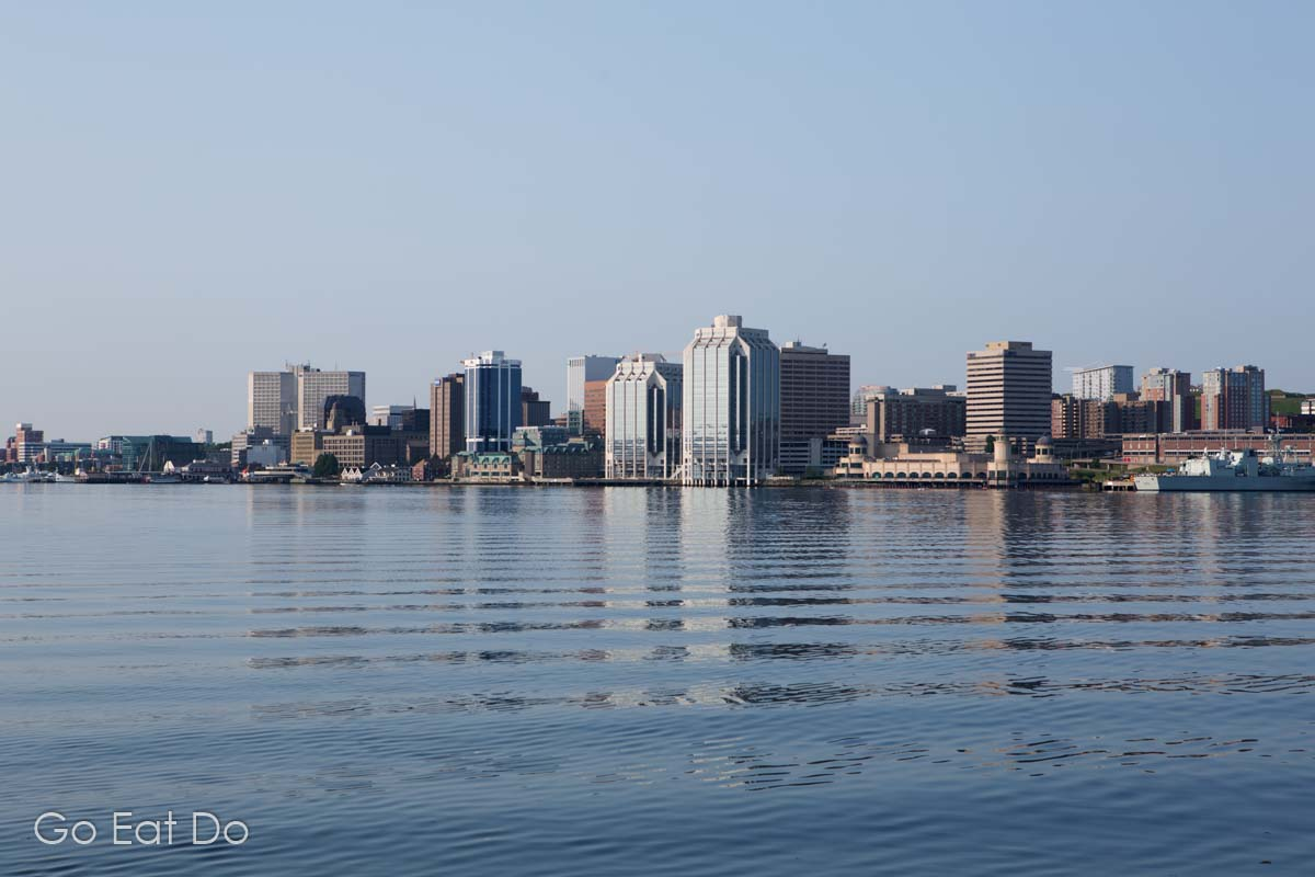 The waterfront at Halifax, the provincial capital of Nova Scotia