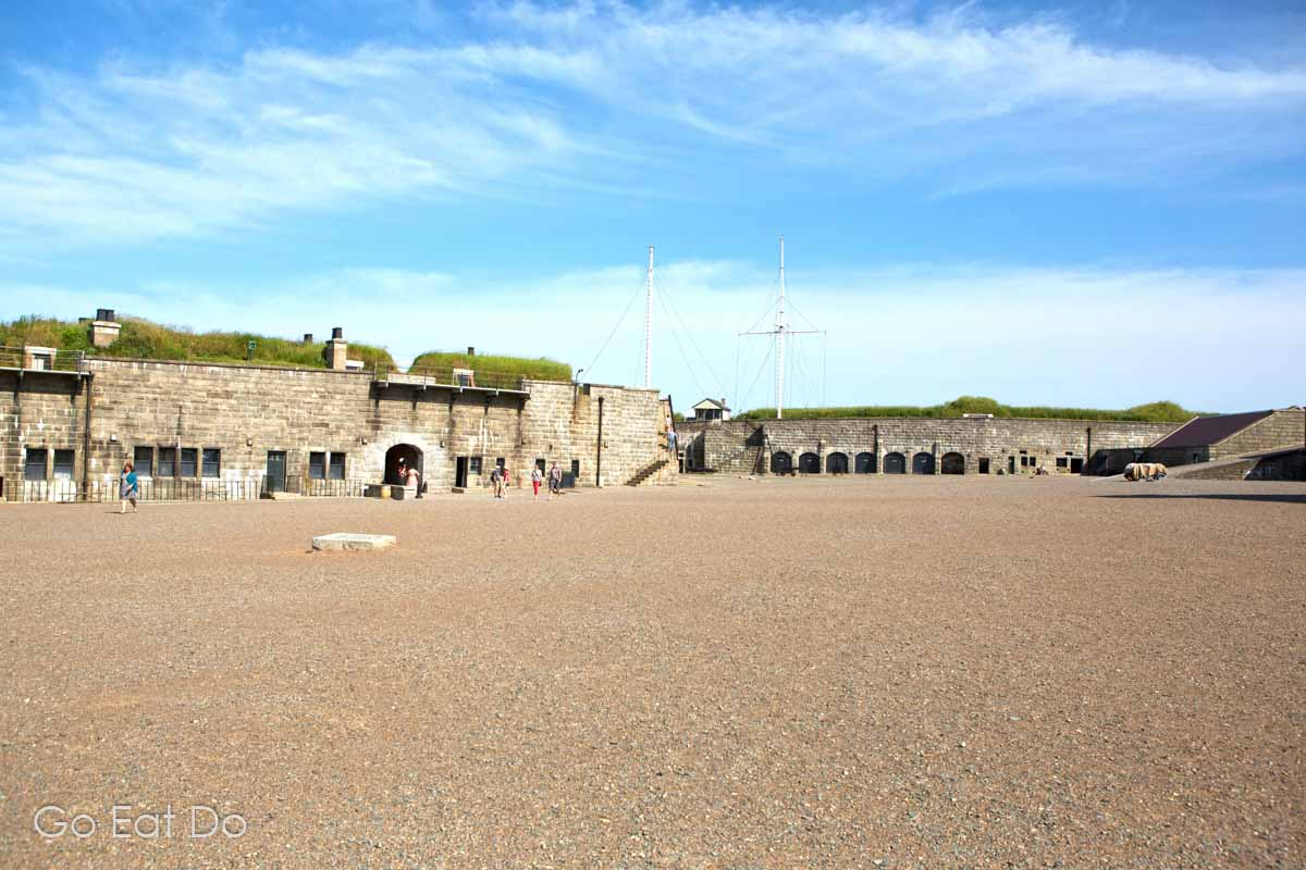 Courtyard at Halifax Citadel National Historic Site, a must-see attraction during 48 hours in Halifax.