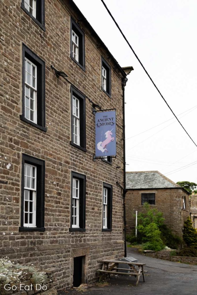 The Ancient Unicorn hotel, a historic coaching inn that is reputedly haunted, in Bowes, County Durham.
