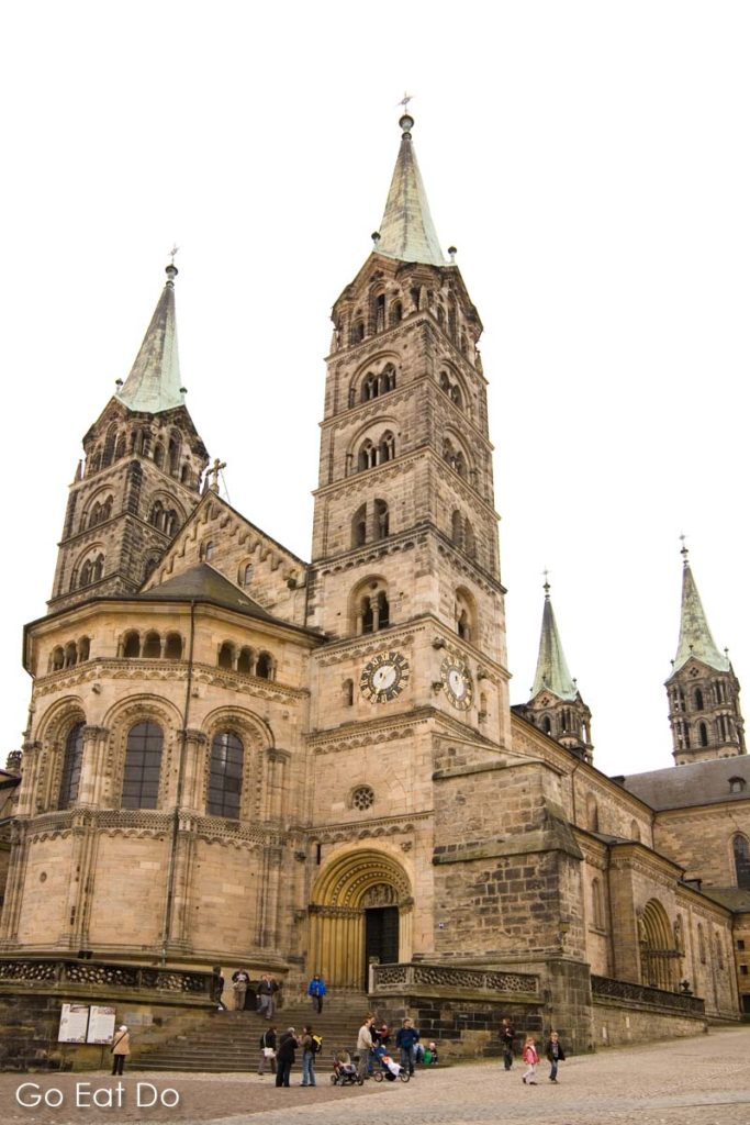 The towers of Bamberg's medieval cathedral reach 81 metres into the sky, the city is the venue for the prestigious Gustav Mahler Conducting Competition.