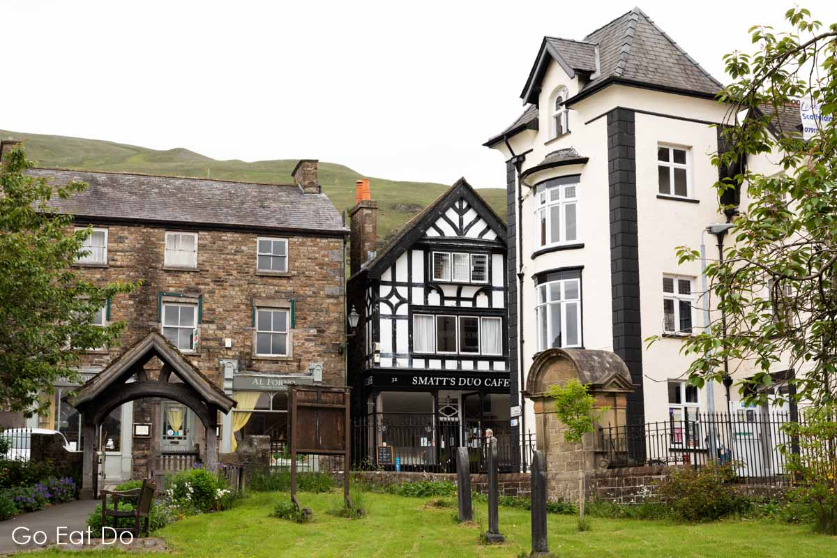 Smatt's Duo Cafe and other buildings in Sedbergh in the Yorkshire Dales National Park